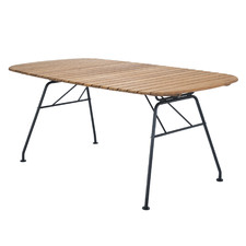 Beam Metal & Bamboo Outdoor Dining Table