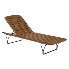 Molo Metal & Bamboo Outdoor Sun Lounger