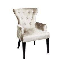 Ella Diamond Arm Chair in Champagne