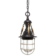 Coleman One Light Pendant in Antique Brass