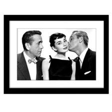 Audrey The Kiss Framed Wall Art
