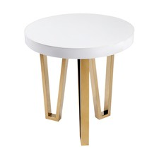 White Stamford Side Table