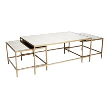 3 Piece Marilyn Glam Coffee Table Set