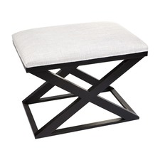 Black Logan Stool