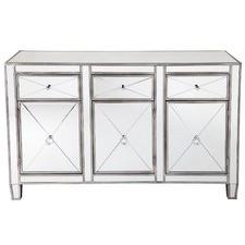 Plano Mirrored Glass Buffet
