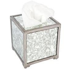 Alisa Square Mirrored Tissue Box