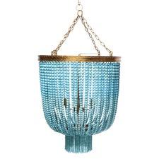 Turquoise Avalon Beaded Pendant Light