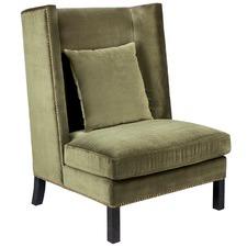 Wing Back Celisa Velvet Armchair