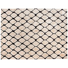 Black Gems Lattice Rug