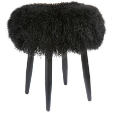Mongolian Lamb Fur Dixie Stool