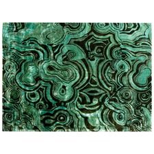 Green Malachite Textural Rug
