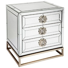 Mirrored Dash Bedside Table