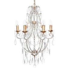 6 Arm Dove Crystal Chandelier