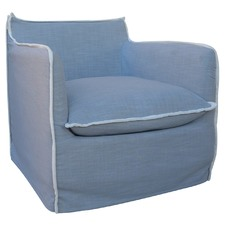 Dove Grey Long Island Armchair