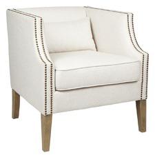 Darwin Linen-Blend Armchair