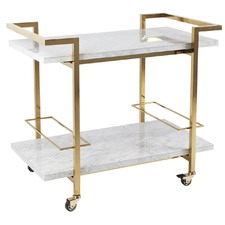 White Franklin Marble Drinks Trolley