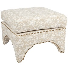 Jewel Bamboo Print Stool