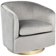 Belvedere Velvet Swivel Armchair