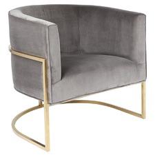 Modern Amoret Velvet Armchair