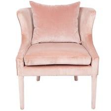 Blush Tillie Velvet Armchair