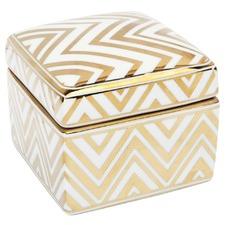 Chevron Ceramic Trinket Box