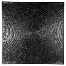 Black Vortex Canvas Wall Art