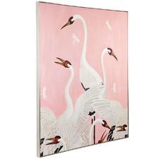 Dreaming Crane Canvas Wall Art