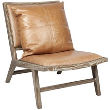 Tan Messina Leather Chair