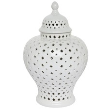 Extra Small White Minx Temple Jar
