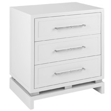 White Pearl Bedside Table