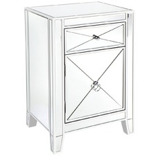 White Plano Bedside Table
