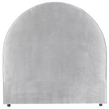 Grey Arched Dover Queen Linen Headboard