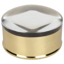 Round Hayworth Stainless Steel Trinket Box