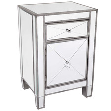 Plano Luxe Mirrored Bedside Table
