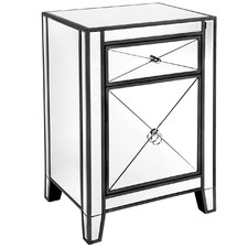 Plano Mirrored Bedside Table
