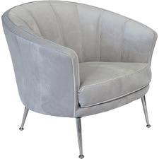 Silver Studio Velvet Armchair