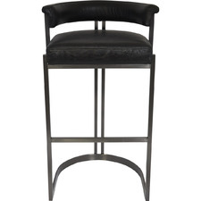 75cm Morgan Top Grain Leather Barstool