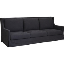 Black South Hampton 3 Seater Sofa