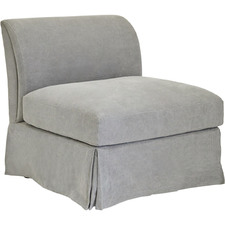 Grey Travia Linen Armchair