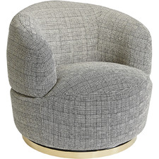Grey Plaid South Hampton Armchair