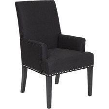 Black Bentley Upholstered Armchair