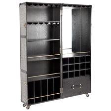 Black Raffles Portanle Bar Cabinet