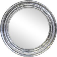 Silver Eclipse Round Wall Mirror