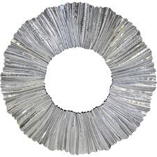 Silver Ripple Wall Mirror