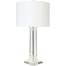 White Venetian Table Lamp