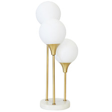 Weissnat 3 Light Metal & Marble Table Lamp