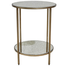 Kluge Mirrored Side Table