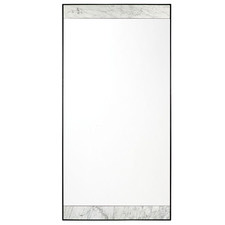 White & Black Paola Floor Mirror