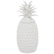 White Brazilla Ceramic Temple Jar