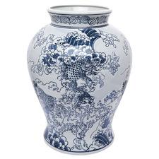 Blue & White Saint Porcelain Vase
